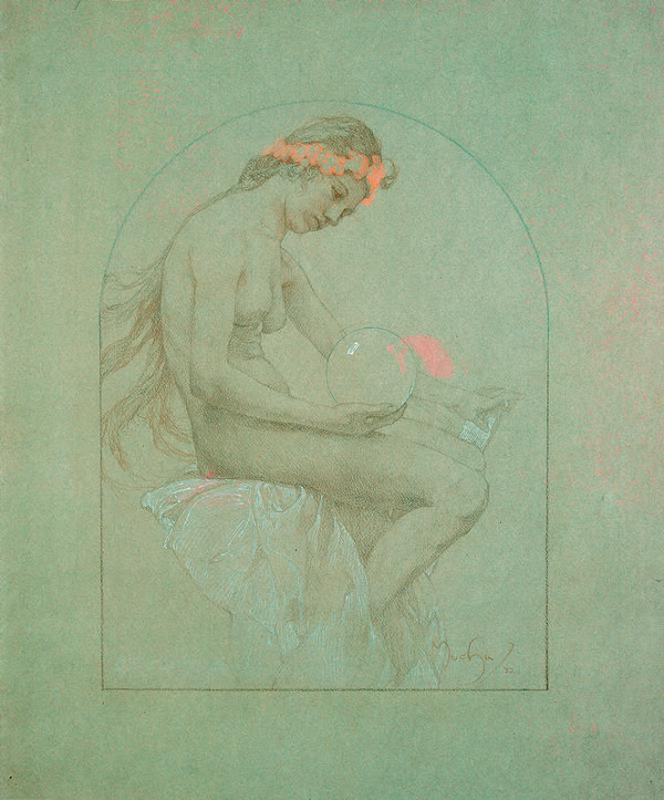Alfons Mucha – Dívka s koulí