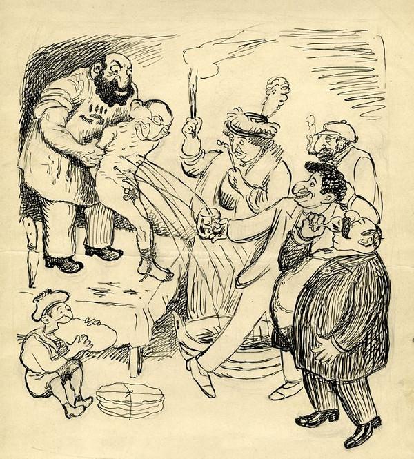 František Gellner – Satirická kresba