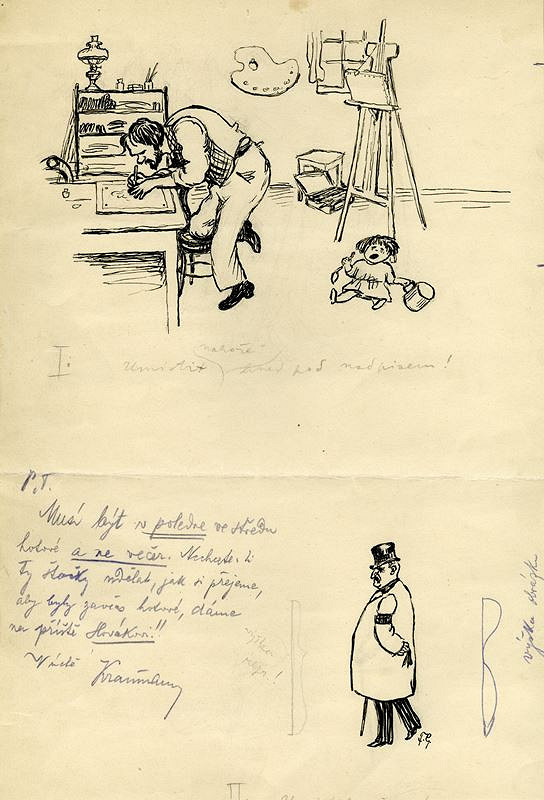František Gellner – Satirické kresby