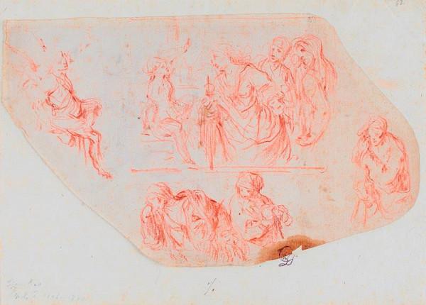 Bernardino Mei - Figurální studie