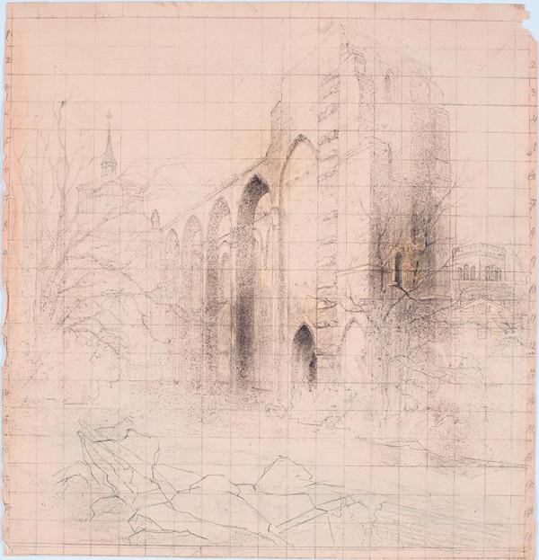 Julius Eduard Mařák - Zříceniny gotického chrámu