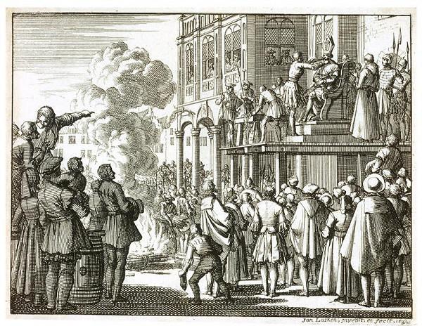Jan Luyken - Smrt  kacíře