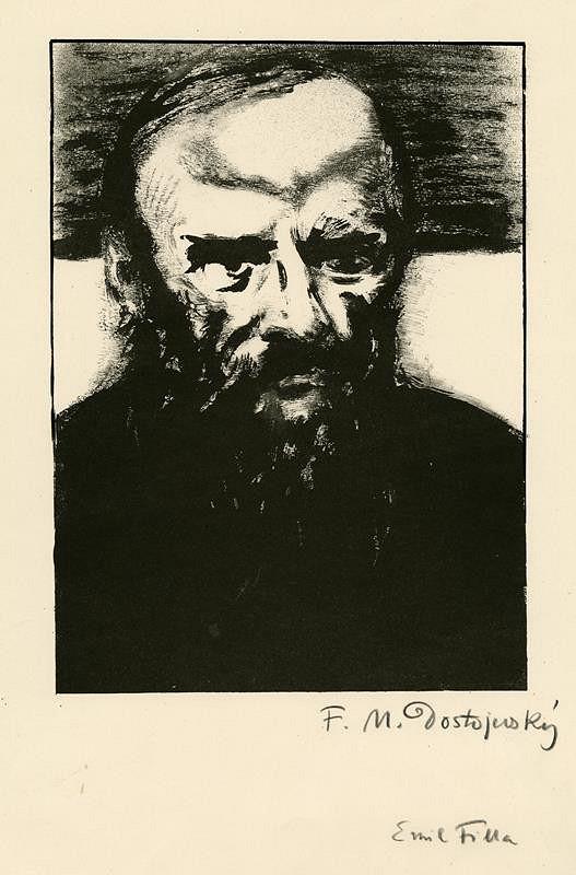 Emil Filla - F. M. Dostojevskij