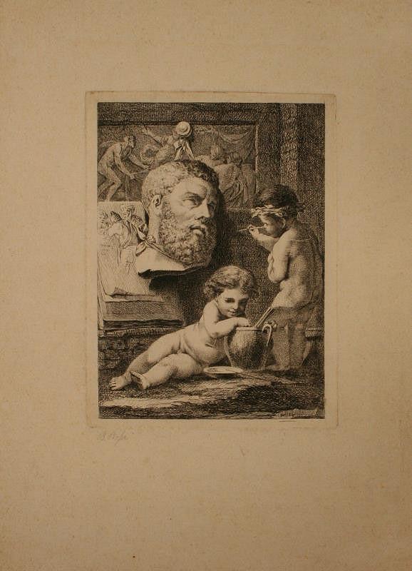 Benigno Bossi - Alegorie umění
