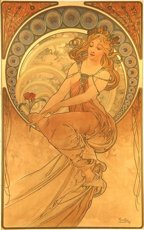 Alfons Mucha – Dívka