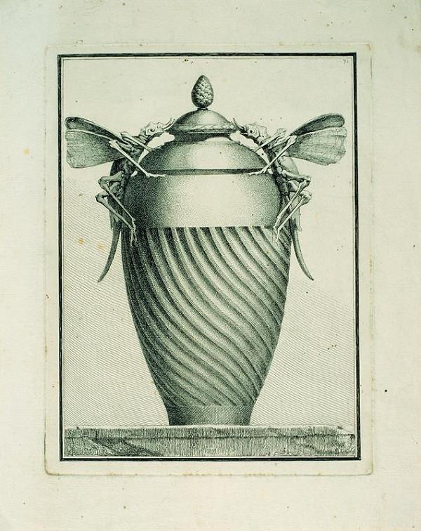Benigno Bossi – Váza  s  kobylkami