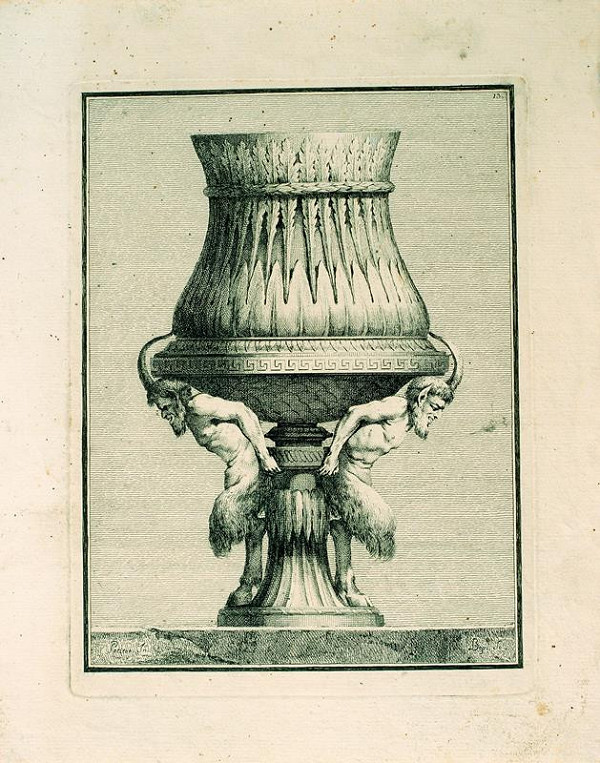 Benigno Bossi - Váza s fauny