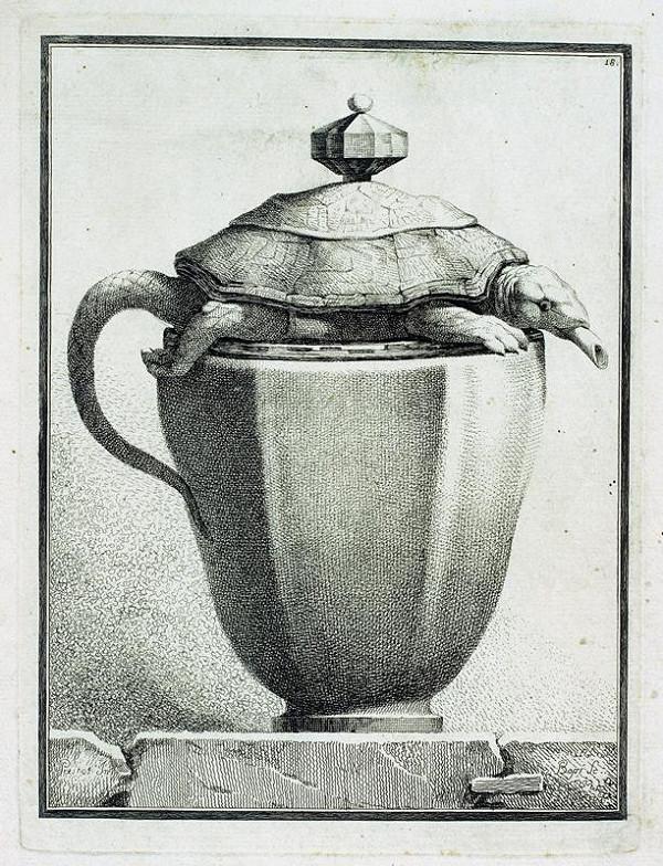 Benigno Bossi – Váza  s  želvou