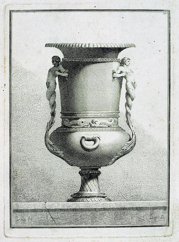 Benigno Bossi – Váza s vodními bytostmi
