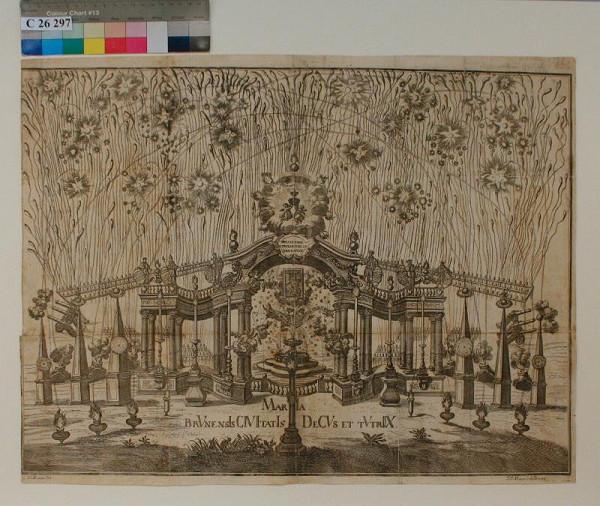 Franz  Anton Mayer - Návrh na slavnostní výzdobu při přenesení obrazu Starobrněnské madony