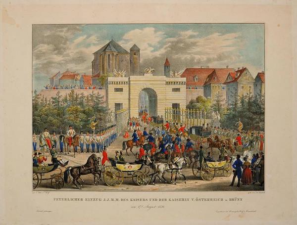 Alois Wolf – Slavnostní  vjezd  rakouského  císaře  a  císařovny  do  Brna.