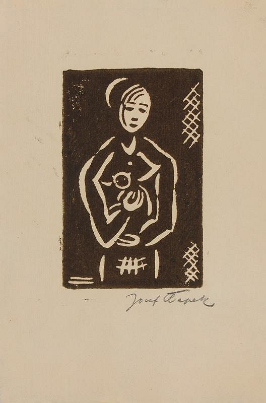 Josef Čapek - Žena s kočkou