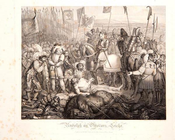 Blasius Höfel (Hoefel) - Rudolf I. nad mrtvým tělem Přemysla Otakara II.