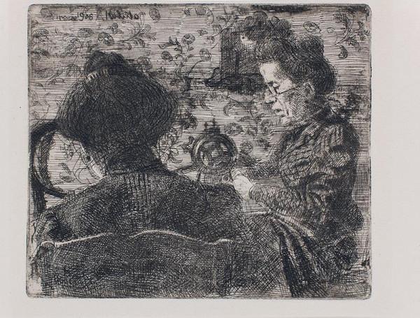Bohumil Kubišta - Ženy u stolu /Dvě švadleny