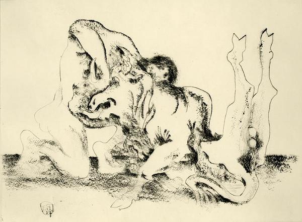 Emil Filla - Zápas koně s lvem