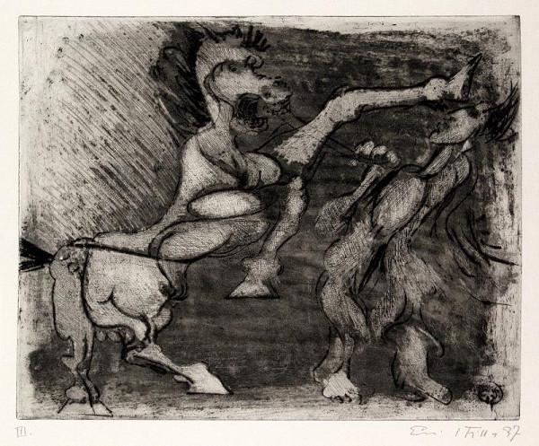 Emil Filla - Muž zápasící s orlem