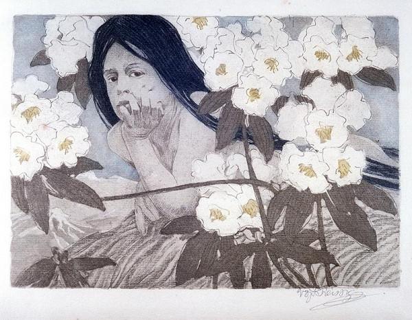 Vojtěch Preissig – Dívka v rhododendronech