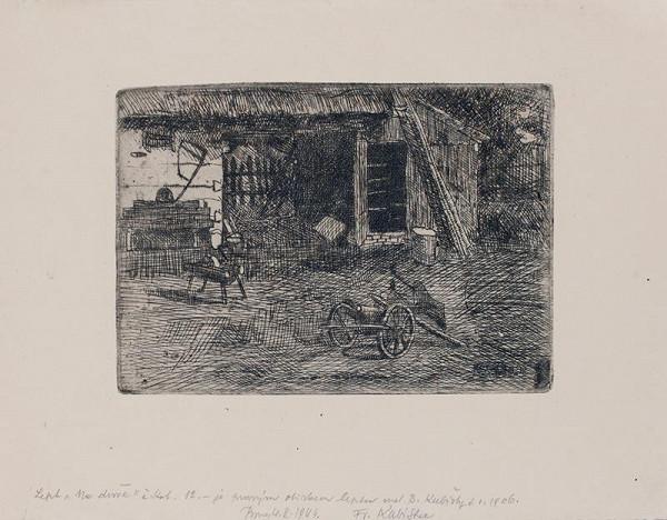Bohumil Kubišta – Na dvoře