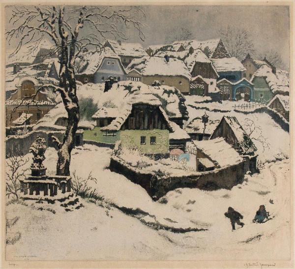 Jaromír Stretti-Zamponi – Vesnice v zimě