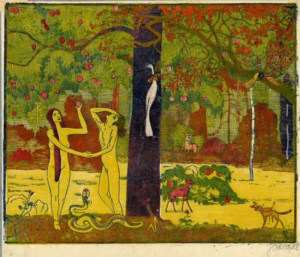 Josef Váchal - Adam a Eva v ráji