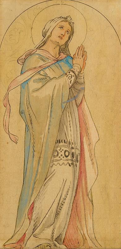 Josef Mánes – Svatá Ludmila