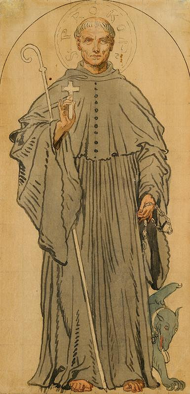 Josef Mánes – Svatý Prokop