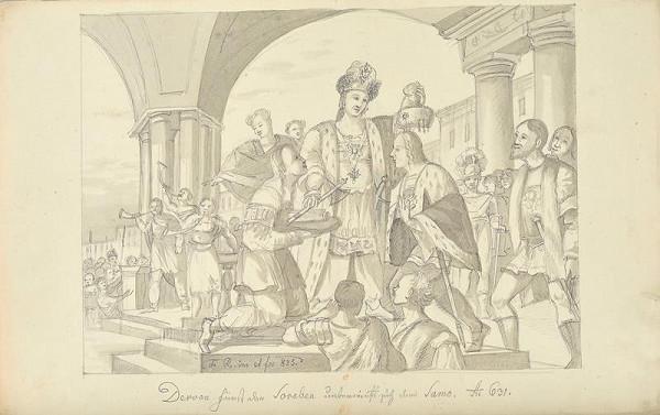 František (Franz) Richter - Srbský kníže Dervan se poddává Sámovi