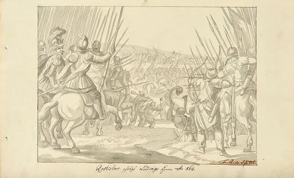 František (Franz) Richter – Rostislav poráží Ludvíka