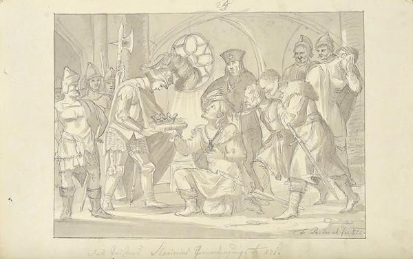 František (Franz) Richter - Slavimír se zříká trůnu