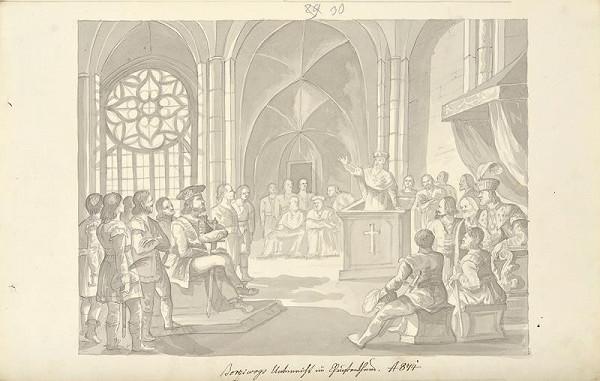František (Franz) Richter - Bořivoj se učí v křesťanství