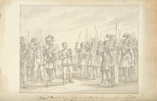 František (Franz) Richter – Přemysl Otakar II. před bitvou na Moravském poli