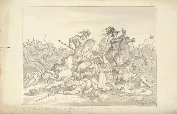 František (Franz) Richter - Smrt Přemysla Otakara II. na Moravském poli