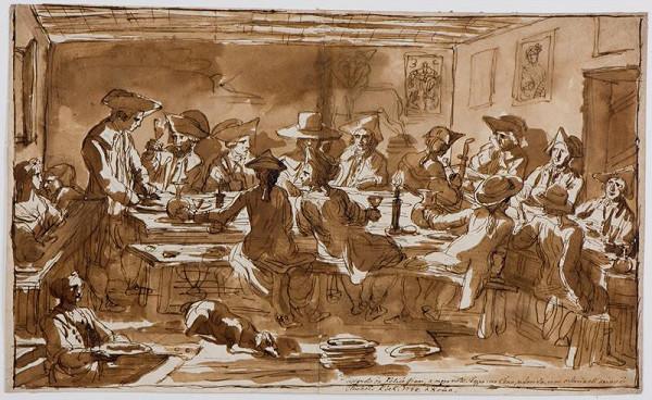 Felice Giani – Malíři při společné večeři v hospodě