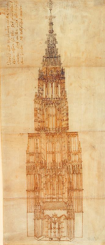 neznámý – Věž münsteru v Ulmu