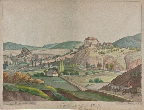 František (Franz) Richter – Celkový pohled na Letovice.