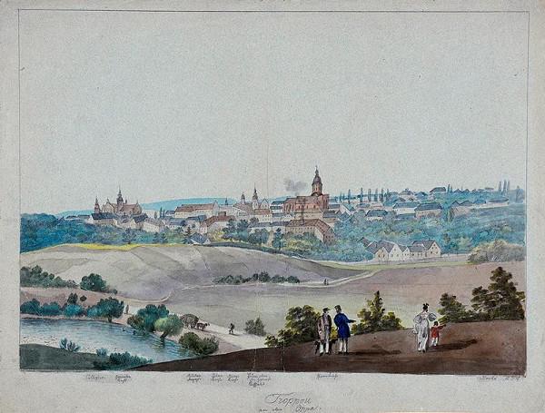František (Franz) Richter - Celkový pohled na Opavu