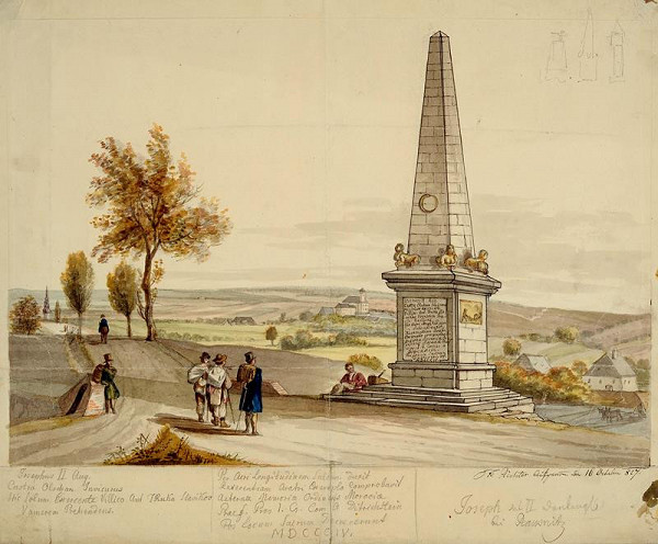 František (Franz) Richter - Pomník Josefa II. -Rousínov