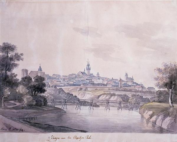 František (Franz) Richter – Celkový pohled na Znojmo