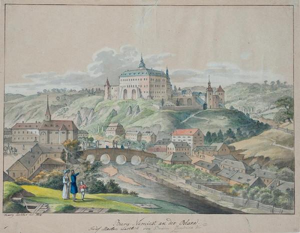 František (Franz) Richter - Náměšť nad Oslavou - pohled na město se zámkem