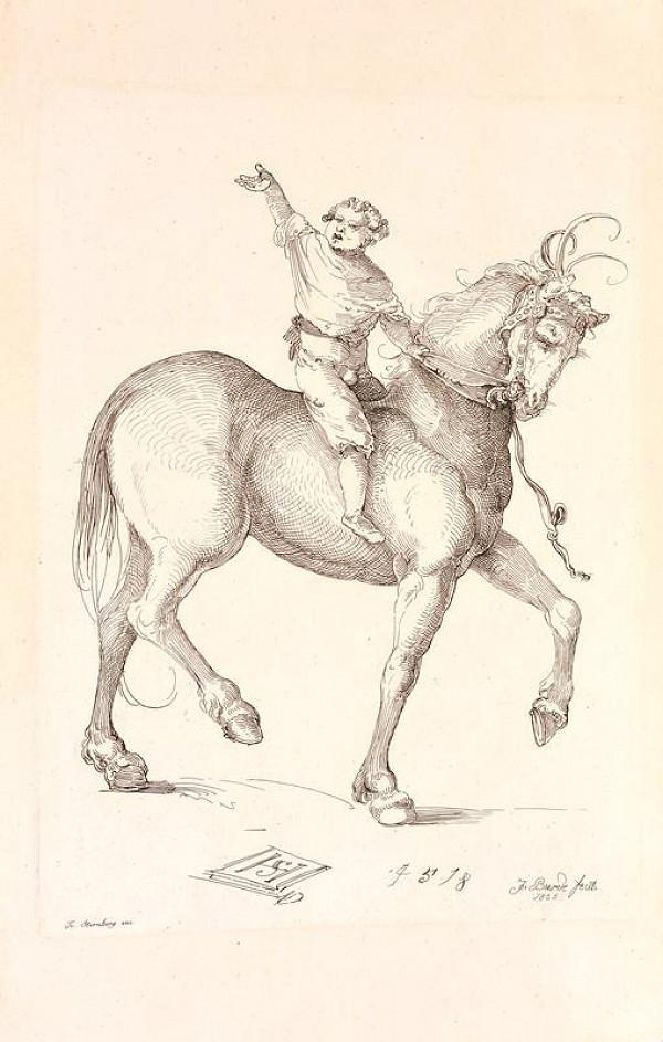 Josef Karel Burde - Chlapec na koni