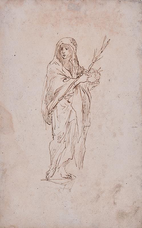 neznámý malíř italský - Postava světice