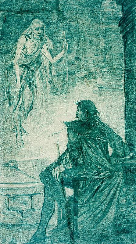 Alfons Mucha – Studie ilustrace k Faustovi