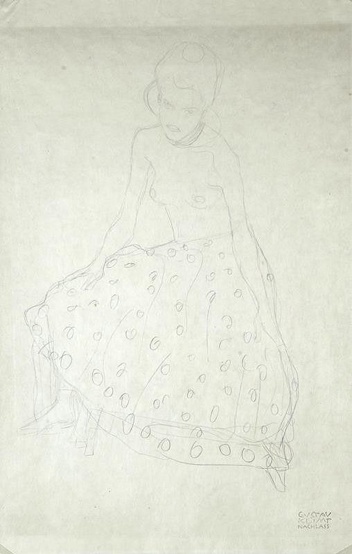 Gustav Klimt – Sedící dívka