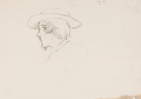 neznámý - Hlava muže v klobouku