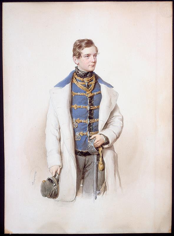Josef Kriehuber - Podobizna baronaq Alfreda Normana