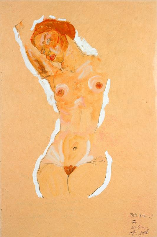 Egon Schiele – Ženský akt