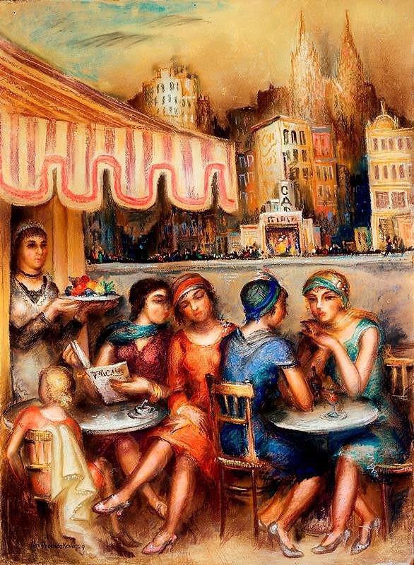 Linka Procházková – Před kavárnou