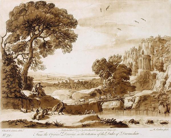 Richard Earlom – Romantická krajina se stádem