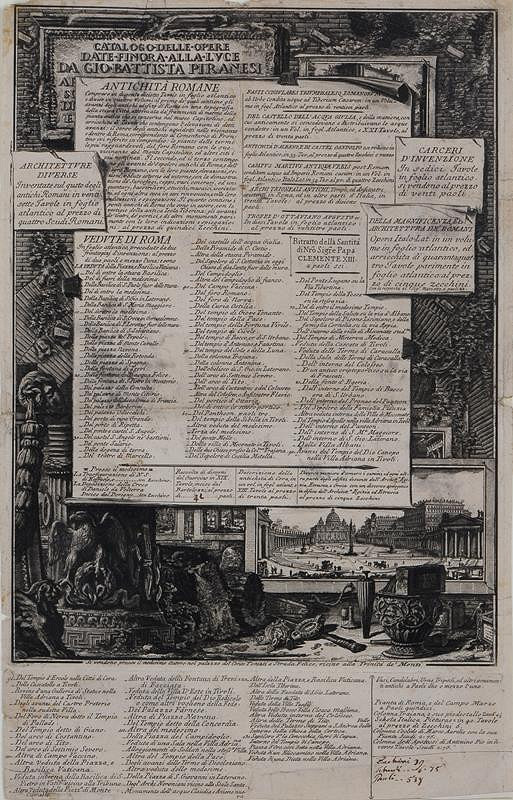 Giovanni Battista Piranesi – Katalog prací G.B. Piranesiho