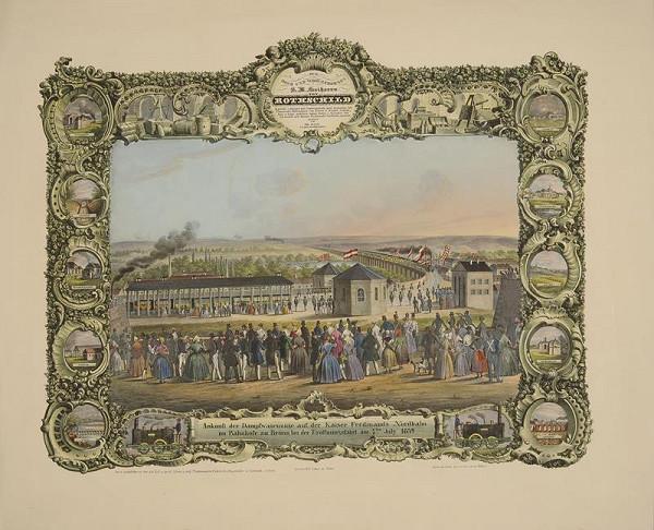 Leopold Müller – Slavnost otevření celé trasy Vídeň – Brno Severní dráhy císaře Ferdinanda dne 7. července 1839